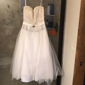 Vintage tea length ball gown